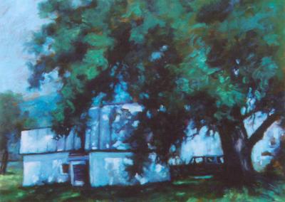 <li>Titre: Le chêne de St-Alban</li><li>Médium: Huile sur toile montée sur carton</li><li>Dimension: 20 x 24</li><li> Collection privée</li></ul><p>