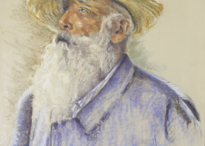<li>Titre: Claude Monet</li><li>Médium: Pastel</li><li>Dimension: 24 x 18 </li><li> Collection privée </li></ul><p>
