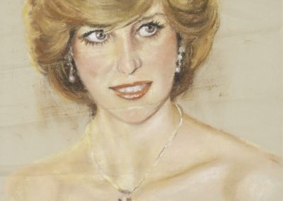 <li>Titre: Lady Diana</li><li>Médium: Pastel</li><li>Dimension: 16 x 12 3/8 </li><li> Disponible </li></ul><p>