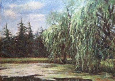 <li>Titre: Le jardin de madame Leclerc</li><li>Médium: huile sur bois</li><li>Dimension: 14 x 18</li><li> Disponible chez Le Balcon d'Art </li></ul><p>