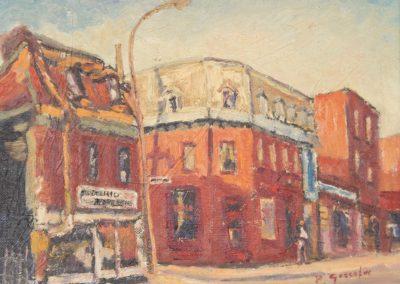 <li>Titre: Montréal coin Montcalm et Ontario</li><li>Médium: Huile sur toile montée sur carton</li><li>Dimension: 9 x 12</li><li> Collection privée </li></ul><p>