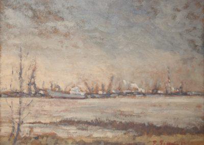 <li>Titre: Port de Montréal</li><li>Médium: huile sur toile</li><li>Dimension: 12 x 16</li><li> Disponible chez Le Balcon d'Art </li></ul><p>