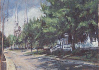 <li>Titre: Visite à Varennes</li><li>Médium: huile sur toile</li><li>Dimension: 16 x 20</li><li> Collection privée </li></ul><p>