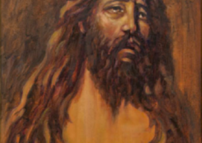 <li>Titre: Portrait Du Christ </li><li>Médium: Huile sur toile </li><li>Dimension: 20 x 16 </li><li> Collection privée </li></ul><p>